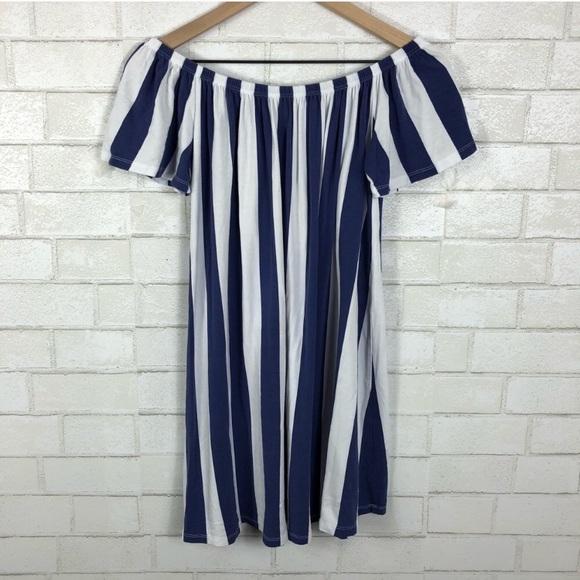 6b12ff4aa8 ASOS Dresses & Skirts - ASOS Dress. Off the shoulder vertical stripes